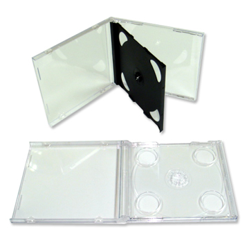 2片裝CD盒(薄)<br> Thiner Double CD Case<br>產品圖